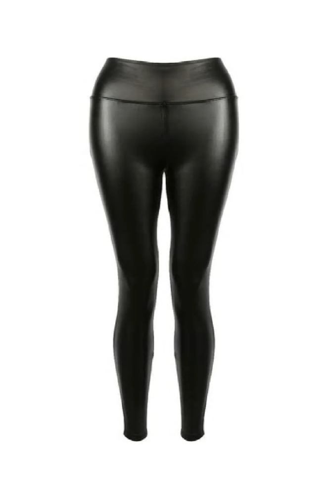 Black PU High Waist Leggings