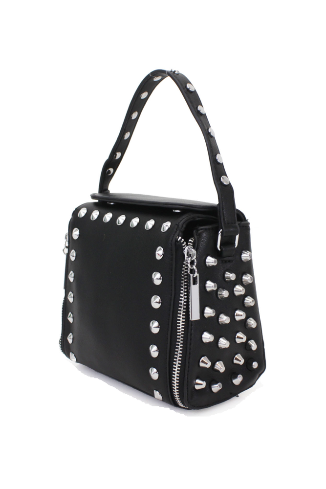 Black Studded Cross Body Bag