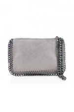Grey Chain Edge Wristlet