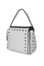 Light Grey Studded Cross Body Bag