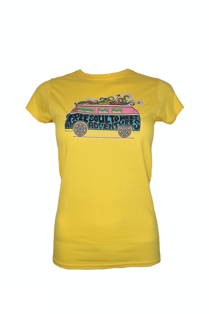 "Yellow Fitted ""Campervan"" T-Shirt"