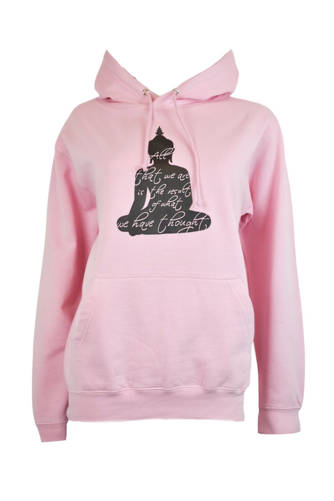 Pink Buddha Thoughts Hoodie