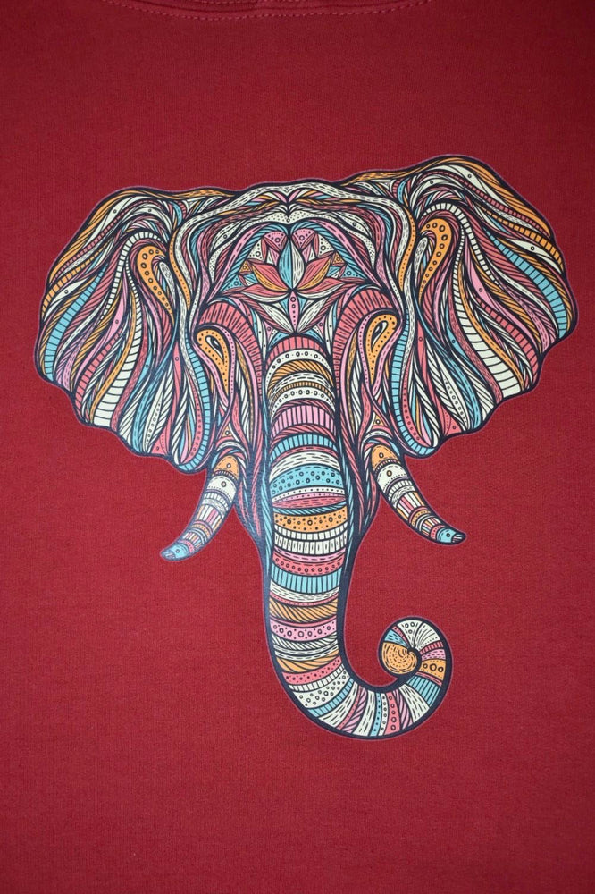 Red Striped Elephant Hoodie