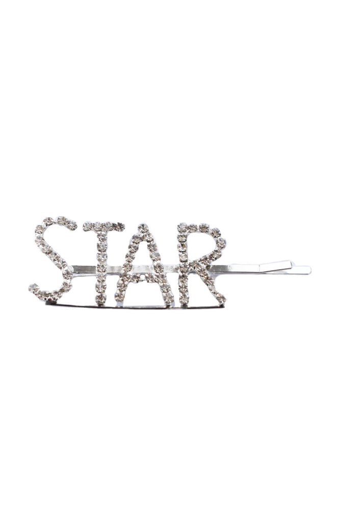 Silver Diamante STAR Hairslide