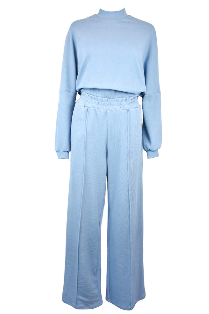 Blue Wide Leg Loungesuit