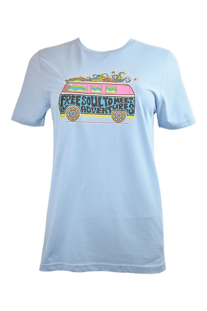 Pale Blue Campervan T-Shirt