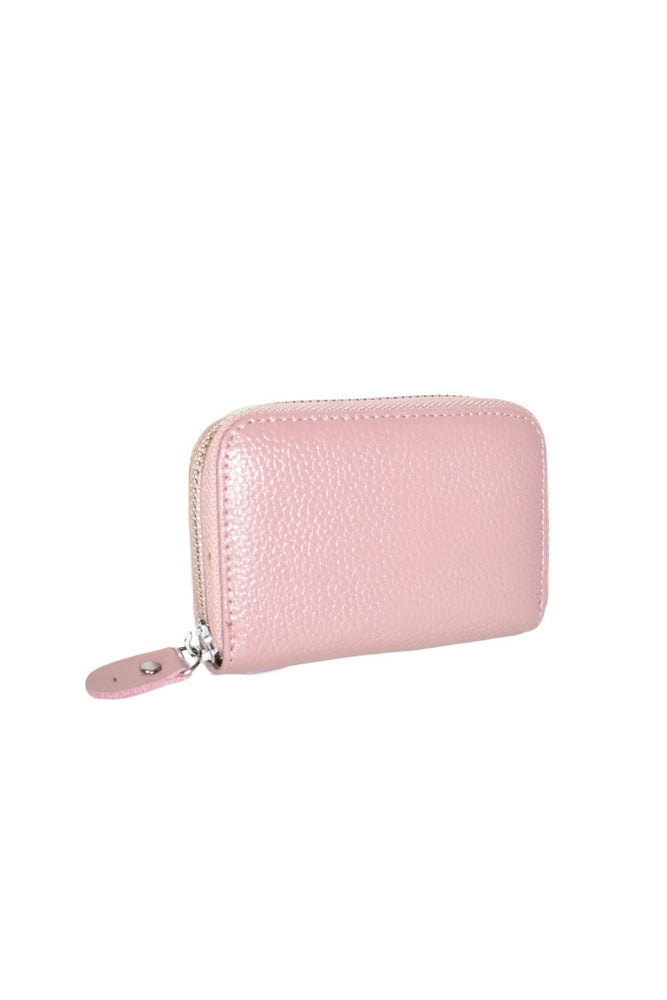 Pink Leather Zipped Coin Purse
