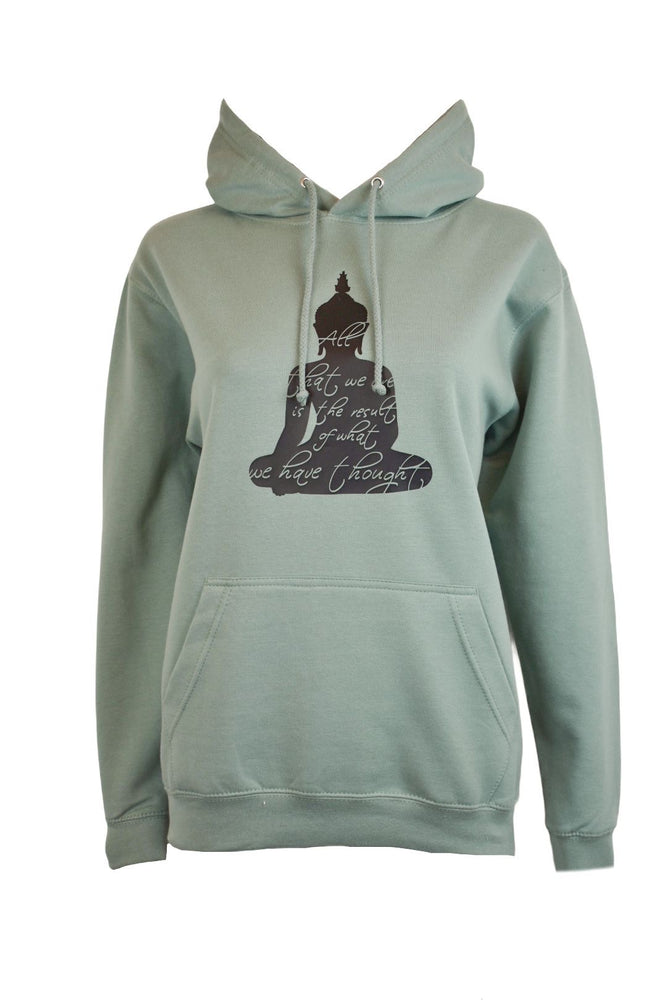 Green Buddha Thoughts Hoodie
