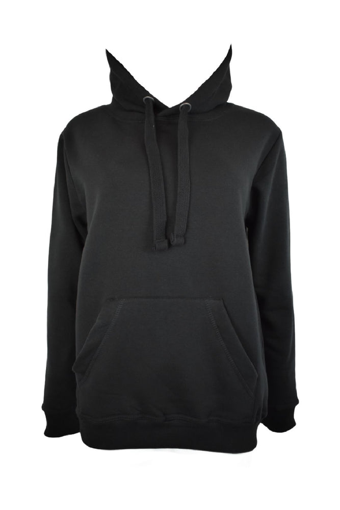 Black Thick Tie Oversized Hoodie