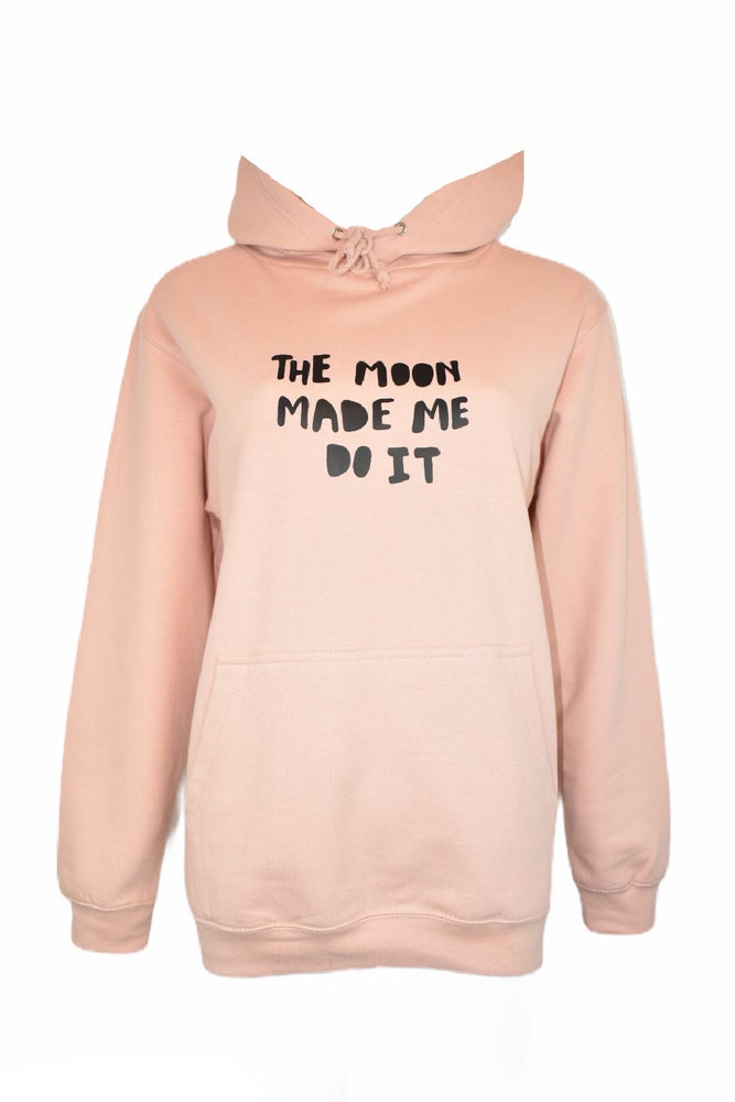 "Peach ""The Moon Made Me Do It"" Hoodie"