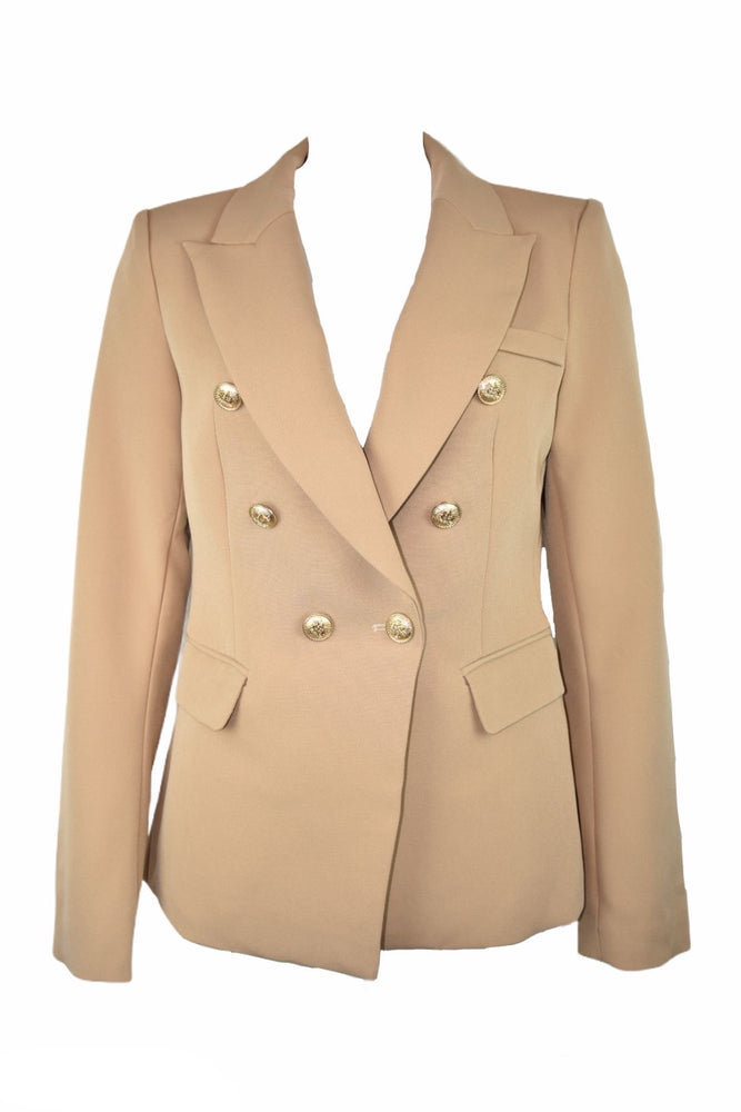 Camel Double Breasted Blazer