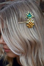 Pineapple Jewelled Hairslide