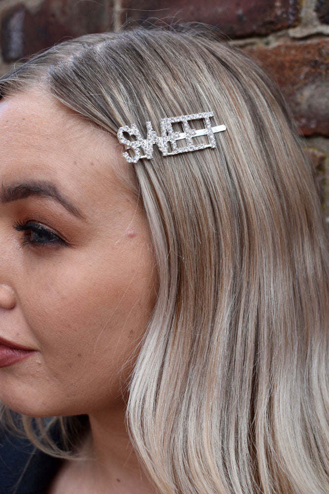Silver Diamante SWEET Hairslide