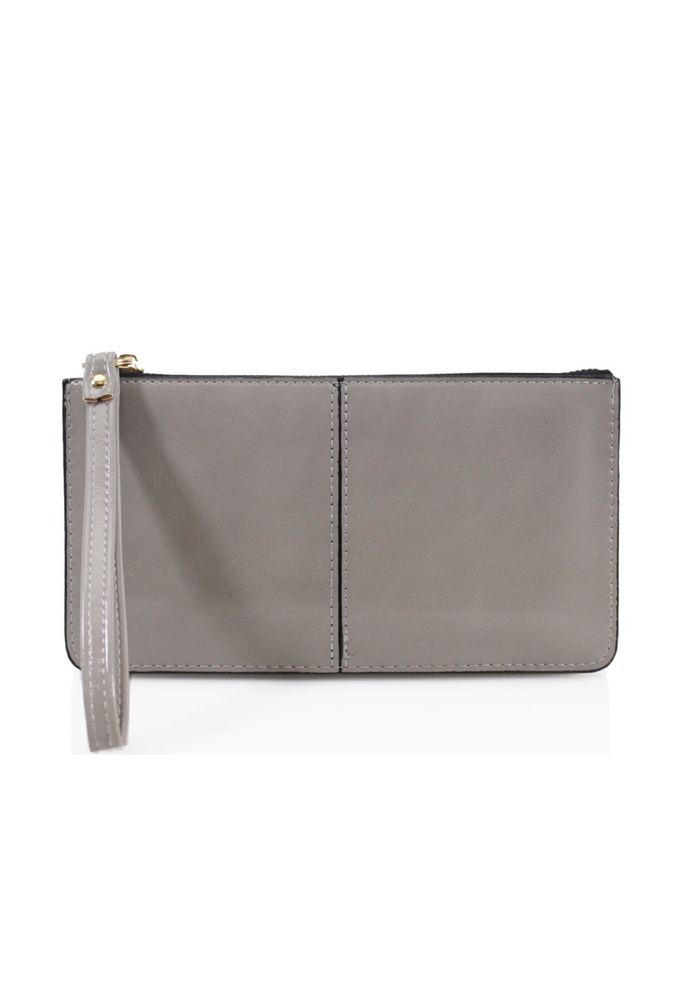 Light Grey Wristlet Purse