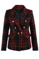 Red & Navy Military Blazer