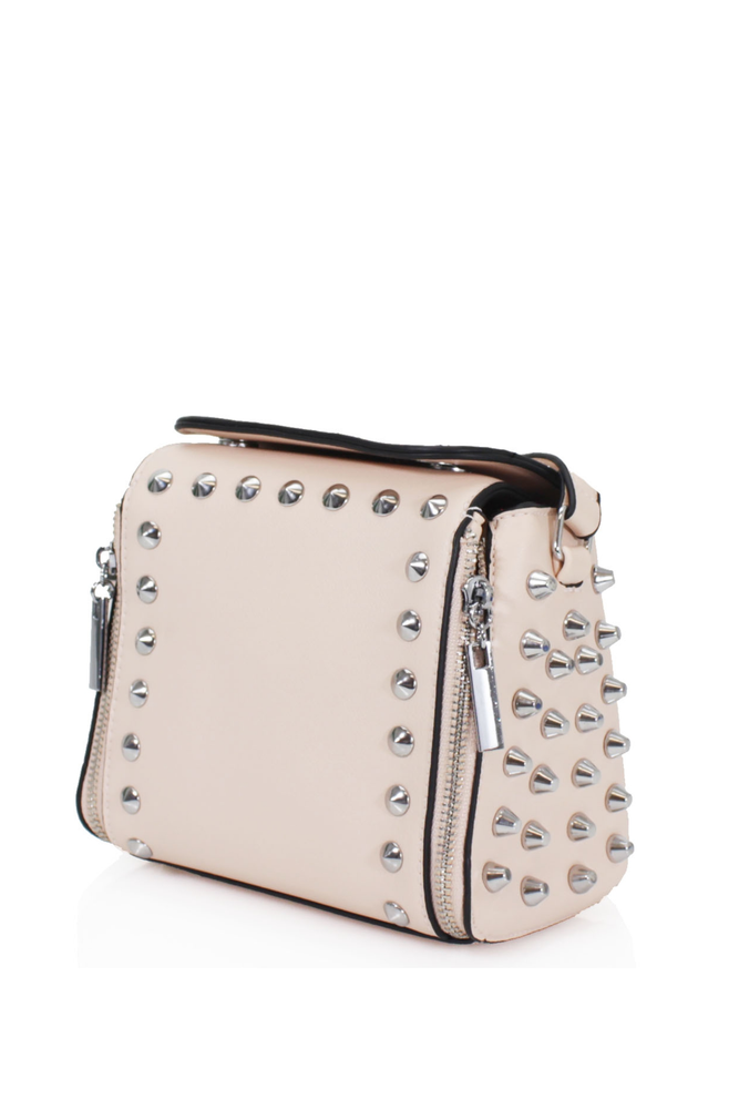 Pink Studded Cross Body Bag
