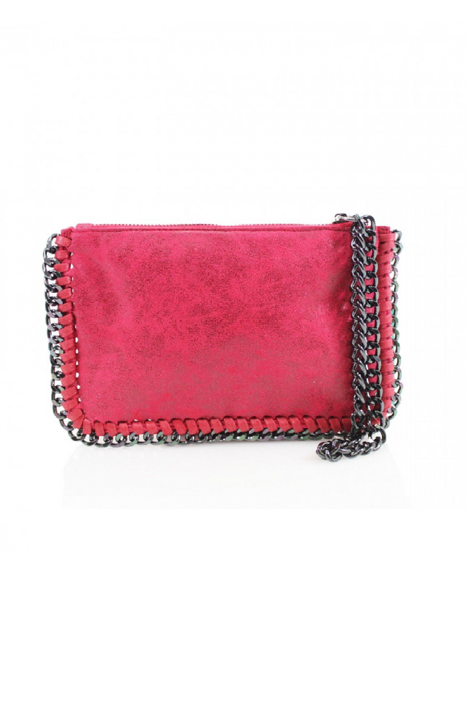 Red Chain Edge Wristlet