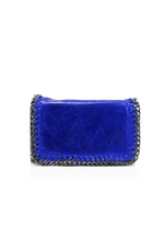 Royal Blue Leather Chain Bag