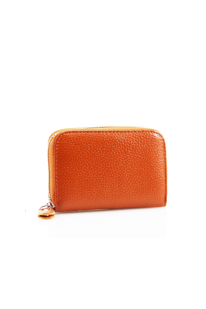 Tan Leather Zipped Coin Purse