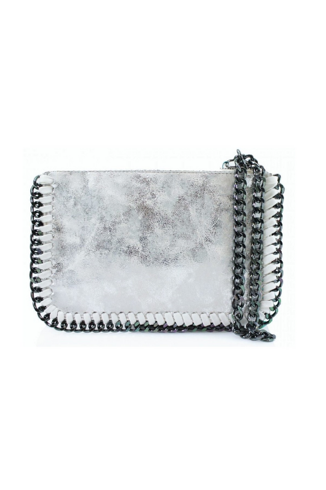 White Chain Edge Wristlet