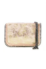 Gold Chain Edge Wristlet