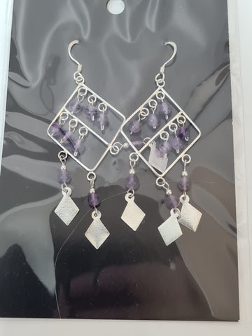 Sirling Silver Amethyst Earrings
