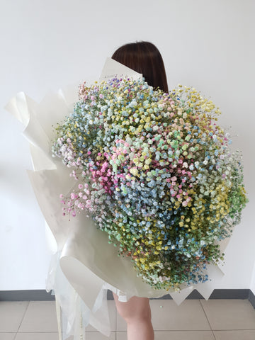 Baby Breath Bouquet - Life Size