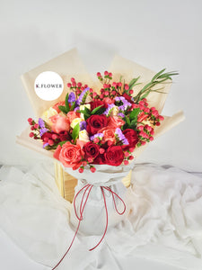 Rose Garden - Designer Bouquet - K. FLOWER