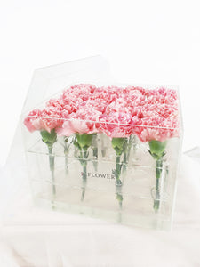 Carnation Only Acrylic Box - K. FLOWER