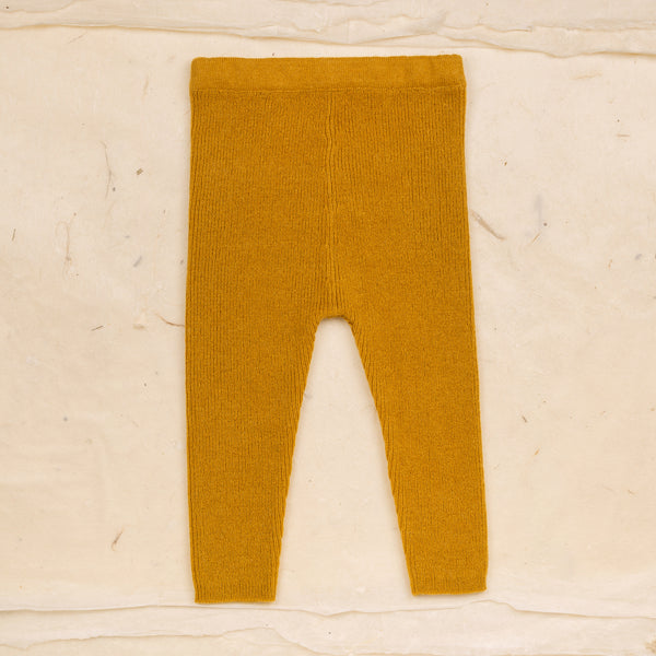 Leggings laine - ocre doré