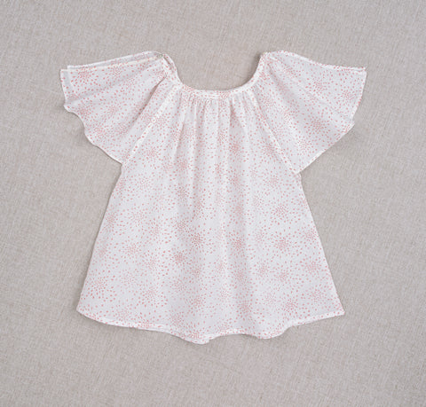 Top Carmensita - riz en fleur rose