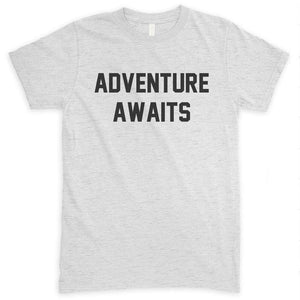 Adventure Awaits Heather Ash Unisex T-shirt