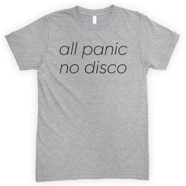 All Panic No Disco Heather Gray Unisex T-shirt