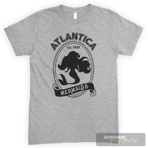 Atlantica Mermaids Heather Gray Unisex T-shirt