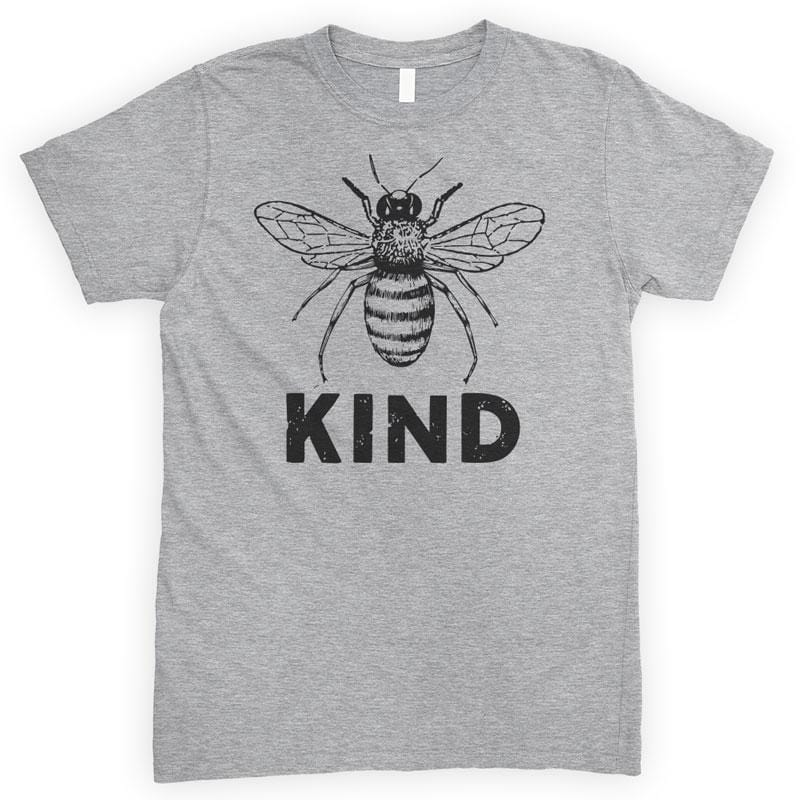 Bee Kind Heather Gray Unisex T-shirt
