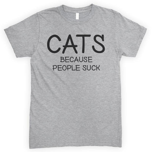 Cats Because People Suck Heather Gray Unisex T-shirt