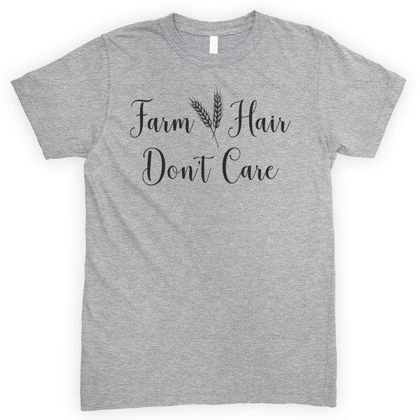 Farm Hair Don't Care Heather Gray Unisex T-shirt