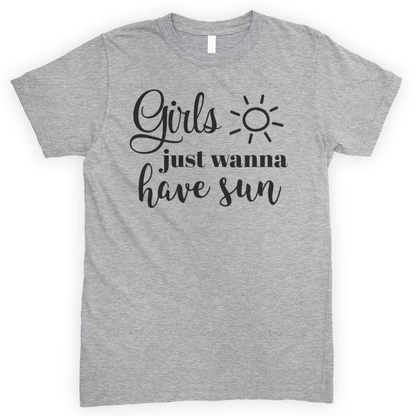Girls Just Wanna Have Sun Heather Gray Unisex T-shirt