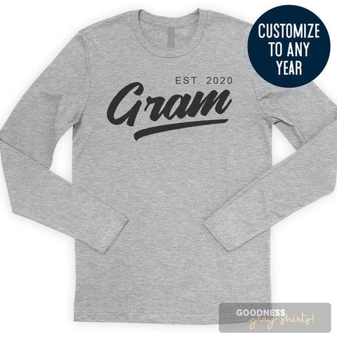 Gram Est. 2020 (Customize Any Year) Long Sleeve T-shirt