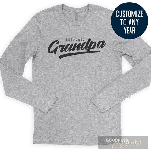 Grandpa Est. 2020 (Customize Any Year) Long Sleeve T-shirt