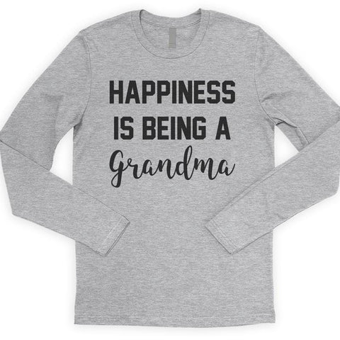Happiness Is Being A Grandma Long Sleeve T-shirt
