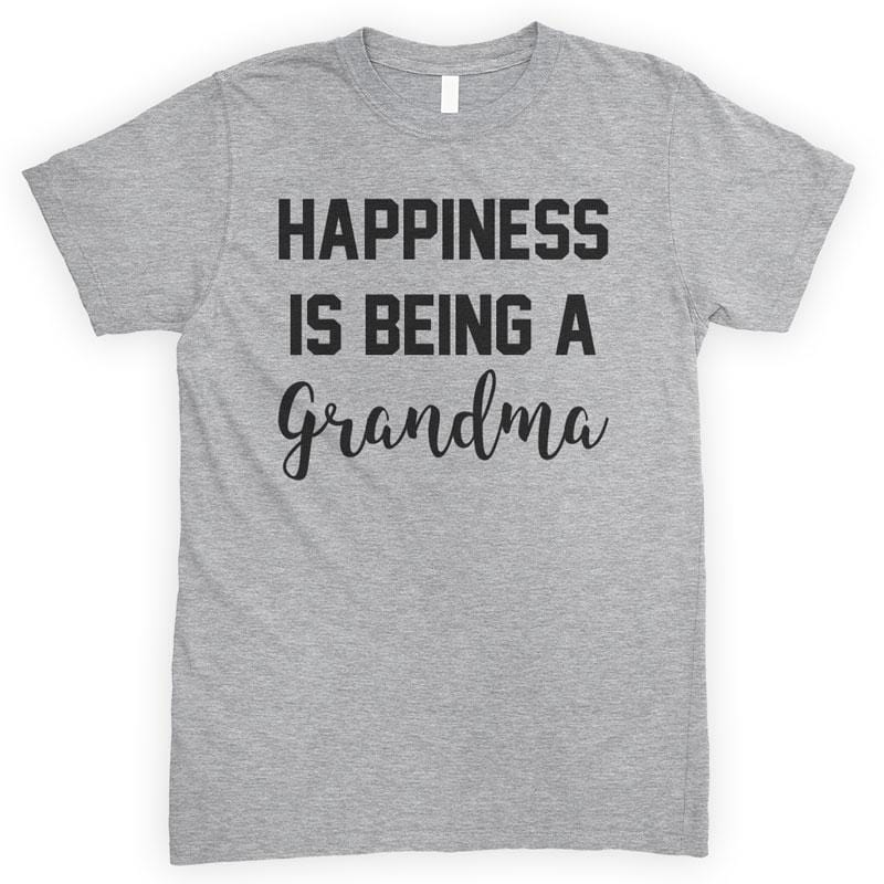 Happiness Is Being A Grandma Heather Gray Unisex T-shirt