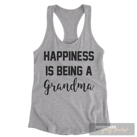 Happiness Is Being A Grandma Heather Gray Ladies Tank Top