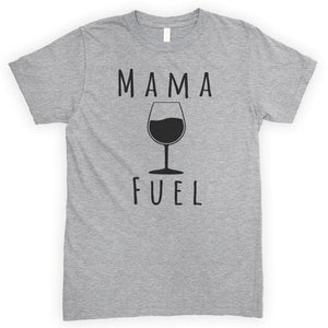 Mama Fuel Heather Gray Unisex T-shirt