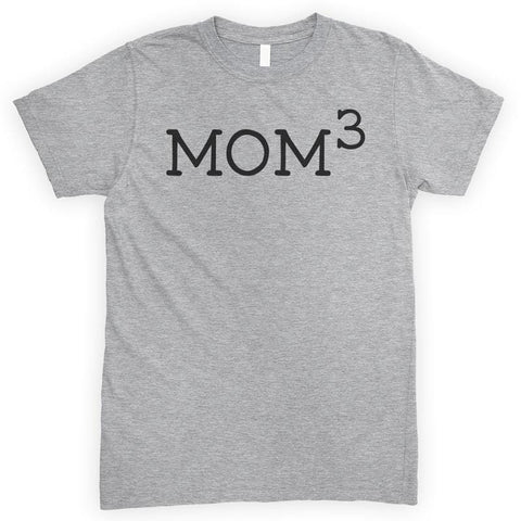 Mom 3 Heather Gray Unisex T-shirt