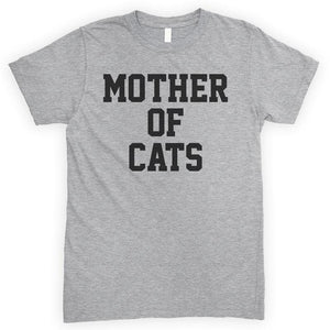 Mother Of Cats Heather Gray Unisex T-shirt