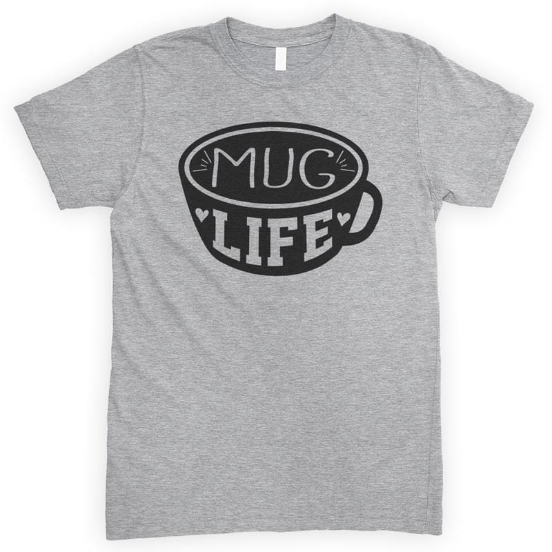 Mug Life Heather Gray Unisex T-shirt