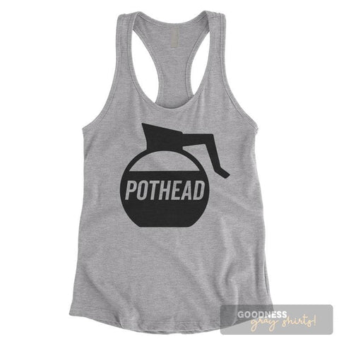 Pot Head Heather Gray Ladies Tank Top