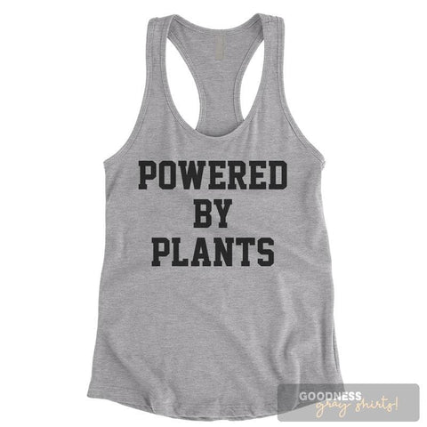 Powered By Plants Heather Gray Ladies Tank Top