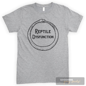 Reptile Dysfunction Heather Gray Unisex T-shirt